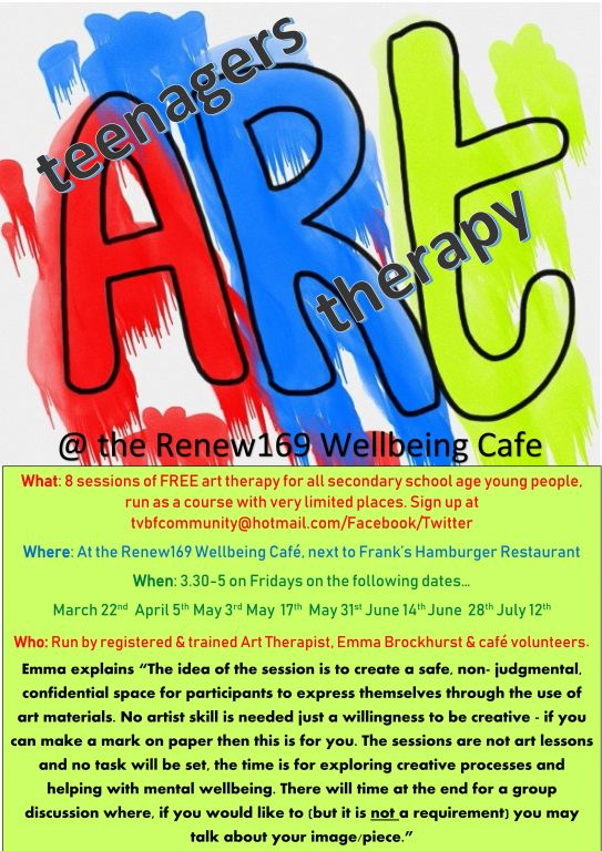Teenage art therapy flyer